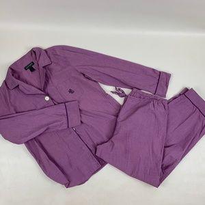 Ralph Lauren Pajama Set Cotton Top Pants